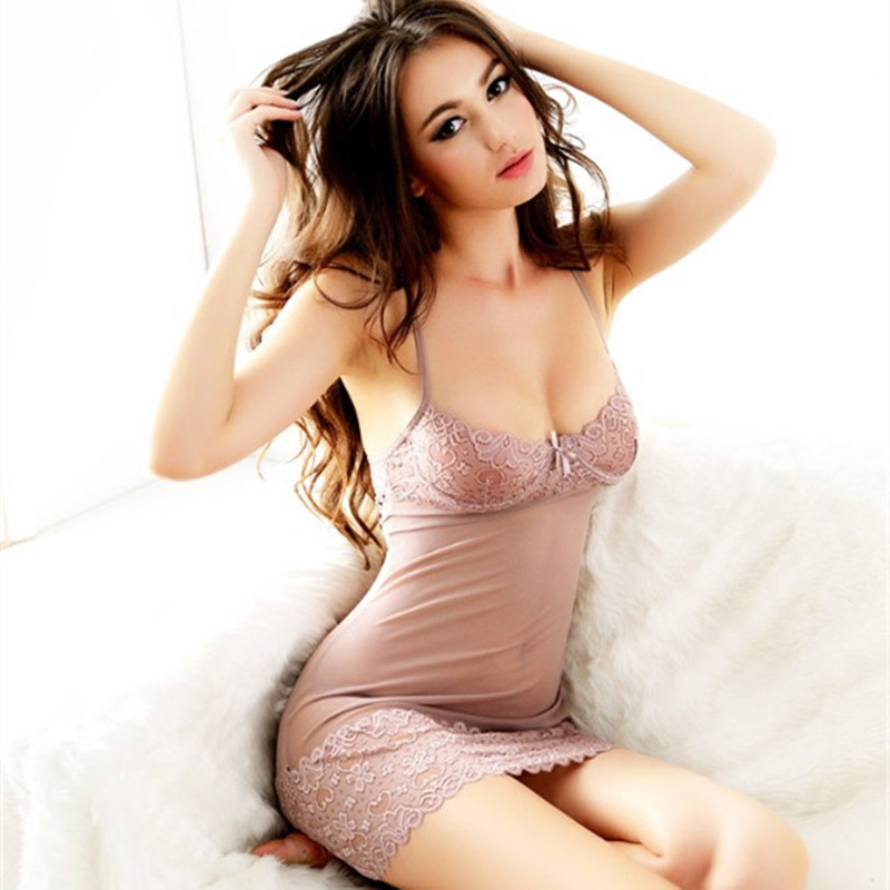 Summer Femal Short Sexy Lace Nightdress Sleeveless Nightgown Strap Strip Steel Bracket Bra Nightgowns Women Chemise De Nuit Sexy(China (Mainland))