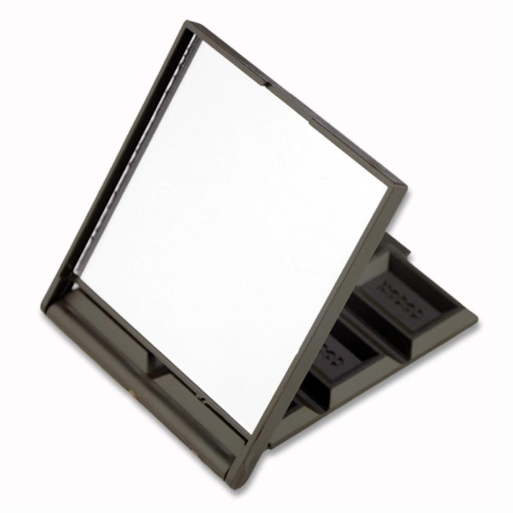 6 slots New 1 PCS Portable Folding Makeup Mirror Creative Chocolate Mirror Pocket Cosmetic Mirror(China (Mainland))