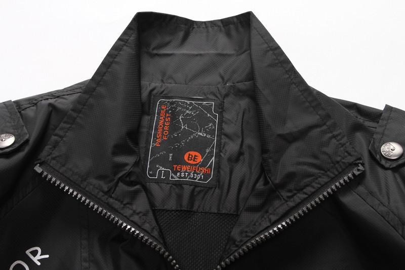 New Bussiness Style Men s Jaket Thin black casual jacket Men s Turndown Collar Coat Fashion