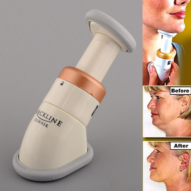 Portable Mini Neckline Slimmer Neck Exerciser Chin Massager Jaw Reduce Double Thin Skin Health Care Massger(China (Mainland))