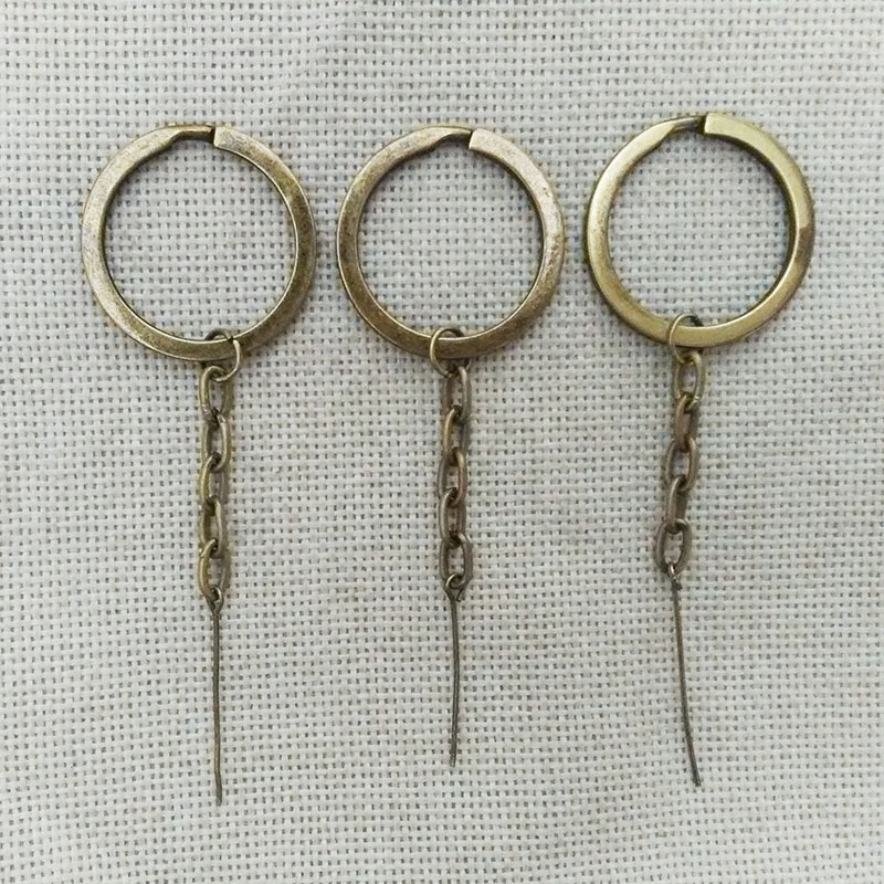 Key Rings key chains holder handbag tassel doll charms jump ring head pins needles mobile pendants clay accessories jewelry kit(China (Mainland))