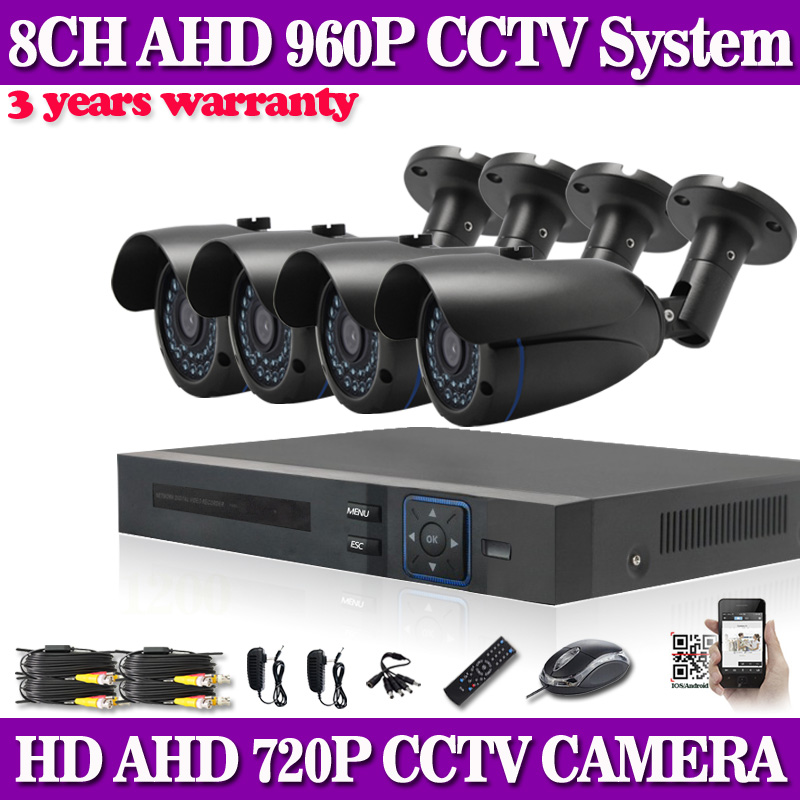HD 8CH AHD 960P DVR Recorder 4PCS AHD 720P 1.0MP Outdoor Waterproof Cameras CCTV System Kit 8 Channel Video Surveillance System<br><br>Aliexpress