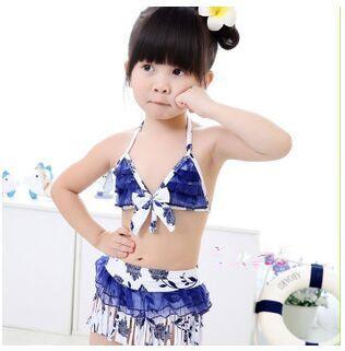 Girls Bikini swimsuit Childrens Swimwear baby girl three-piece 13 colors for 2-6Y baby<br><br>Aliexpress