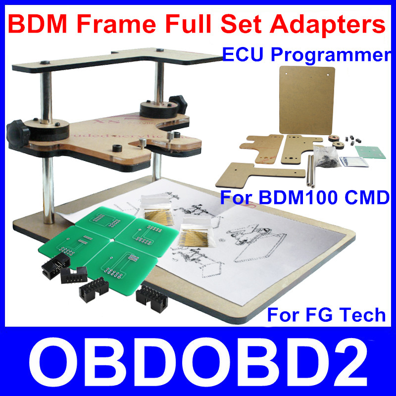 High Quality BDM Frame Programmer Supports BDM100 FG Tech Galletto 4 V54 Fgtech CMD Full Set Of Adapters ECU Chip Tuning Tool(China (Mainland))