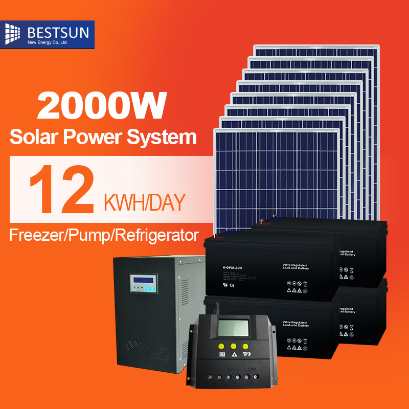 Bestsun renewable Long life guaranty 2kw solar panel system solar energy system price commercial solar energy home system(China (Mainland))