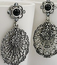 RB-0133 Fashion Vintage Jewelry For Women Three-dimensional Geometry Oval Hollow Carved  Earrings(China (Mainland))