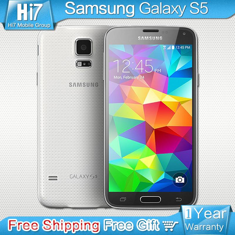Original Samsung Galaxy S5 New Unlocked Mobile phone Quad Core 2GB RAM 16GB ROM 16MP Camera 5.1 inch 4k Screen Waterproof(China (Mainland))