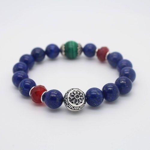 7 inches Natural 10mm Lapis Lazuli,Malachite,Red Agate,Stretch Bracelet B121<br><br>Aliexpress