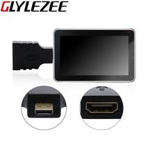 Glylezee Conventor Adaptador Micro HDMI a HDMI Estándar Micro de Alta Resolución Convertidor de Puerto para el Teléfono Móvil Portátil Tablet