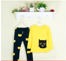 New 2016 autumn children clothing suits girls clothing set child sportswear set girl casual suit free shipping(China (Mainland))