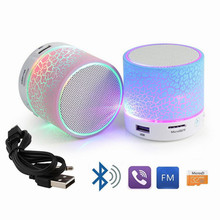 Buy Portable Mini Flashing LED Bluetooth Speakers A9 Wireless Small Music Audio TF USB FM Stereo Sound Speaker Phone Mic for $5.68 in AliExpress store