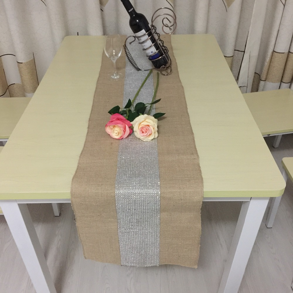 free shipping Bright beads linen table runners, tablecloths, decorative tablecloth scene layout(China (Mainland))