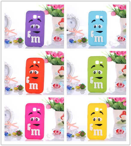 Cute M&M'S Chocolate 3D Cartoon Candy Rainbow Beans Soft Rubber Silicone Case Samsung Galaxy Star Pro S7262 7262 S7260 7260 - Huaqiang On Line store