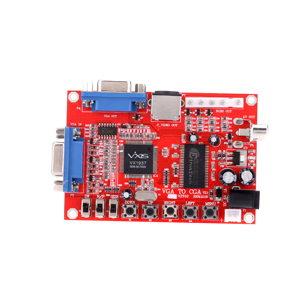 High Definition GBS-8100 VGA to CGA/CVBS/S-VIDEO Converter Arcade Game Video Converter Board for CRT LCD PDP Monitor(China (Mainland))