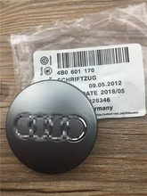 4pcs 60mm gray/black Wheel Center Cap Wheel Hub Caps Car Rims Cover Badge Emblem For Audi A3 A4 A6 A8 TT,4B0601170,4B0 601 170(China (Mainland))