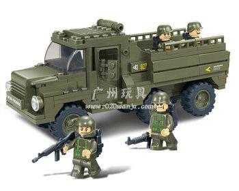 Compatible With Lego Building Block Set Sluban B0301 army personnel carriers 3D Model,Educational building blocks