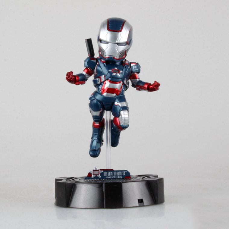 2015 Limited 23cm Attack Iron Man Patriot LED light CUTE Super Hero Avengers PVC Action Figure Collection Model Toy - Toys!Daddy! store