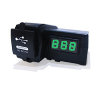 12V Motorcycle ATV Scooter Waterproof with Power Socket Charger  LED Digital Display Voltmeter Voltage Dual USB Power Switch(China (Mainland))