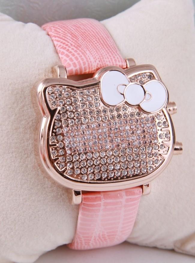 Classic Designer Women Hello Kitty Cartoon Wristwatch Extravagant Full Crystals Case LED Quartz Watches Gift Item Reloj NW39<br><br>Aliexpress