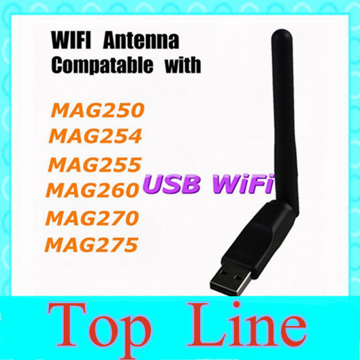 Usb wifi adapter android MAG250 IPTV Set Top TV Box USB WiFi Dongle / 150Mbps USB WiFi Dongle For MAG250(China (Mainland))