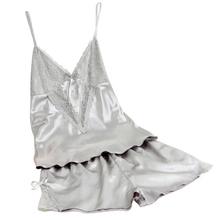 Горячие Продажи летние сексуальные шелковые пижамы женщин пижамы femme взрослых баловень пижамы пижамы глубокий v рукавов подтяжки белье набор(China (Mainland))