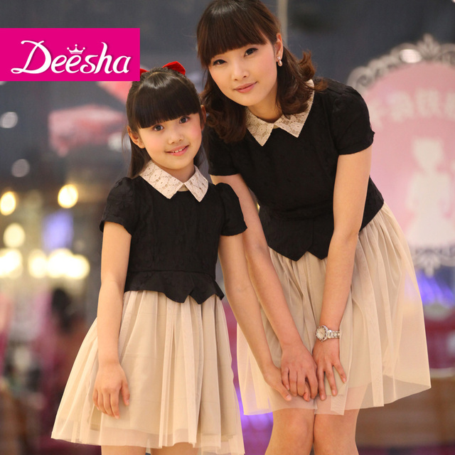 DEESHA children's clothing female child summer 2013 clothes for mother and daughter family fashion short-sleeve dress 1313805