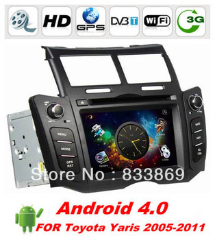 """Double Din HD 6.2 """"Android 4.0 Car DVD for TOYOTA YARIS with GPS 3G/WIFI Car PC Radio Audio 3D UI BT PIP TV IPOD RDS 4G SD Map"""