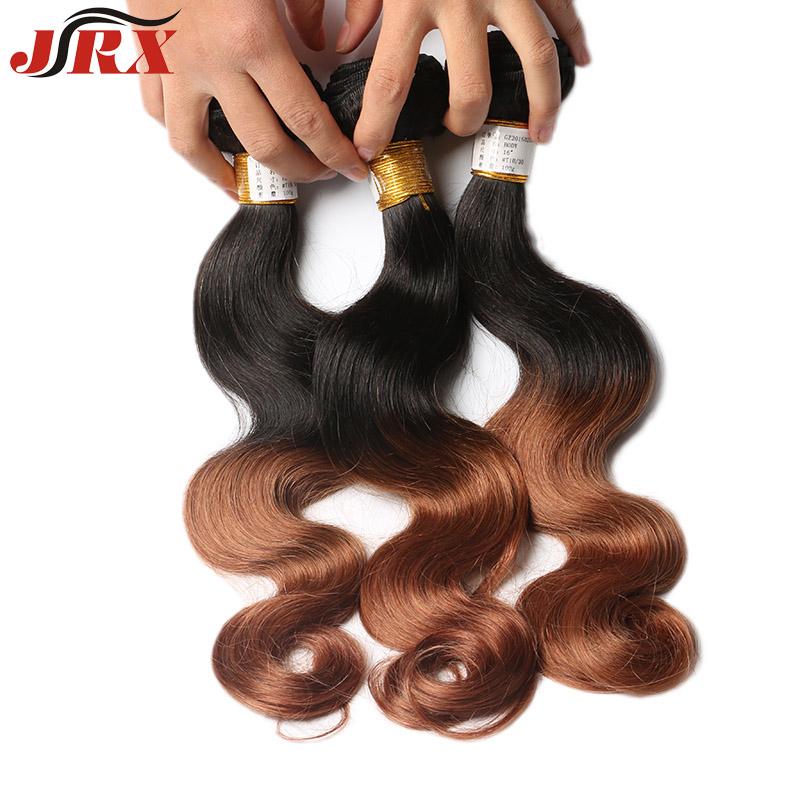 JRX Brazilian Hair Weave Bundles Brazilian Body Wave Extension Hot  Sale Ombre Two Tone Weft T1B/30 Human Hair Weave 3 Bundles <br><br>Aliexpress