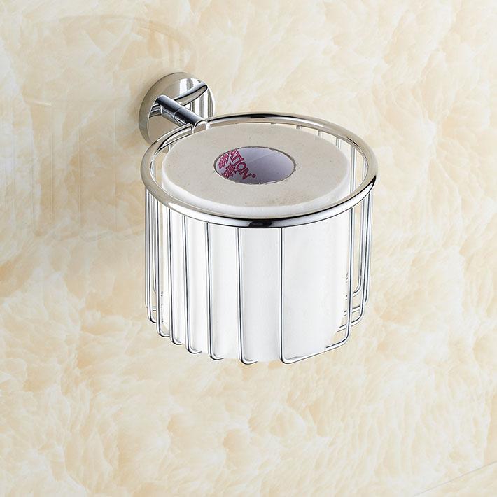 Tissue Paper Roll Basket : Hot sale creative chrome finish bathroom toilet paper