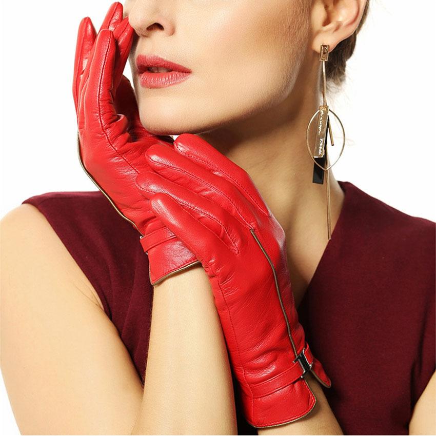 WARMEN brand winter leather gloves women sheepskin gloves fashion wrist lady Genuine leather gloves winter driving glovesОдежда и ак�е��уары<br><br><br>Aliexpress