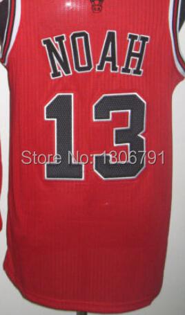 cheap #13 Joakim Noah jerseys free shipping City chicago Noah Embroidery Shirts throwback retro from china online shop Wholesale(China (Mainland))
