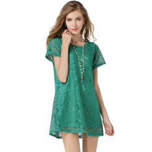 Buy 2017 Ukraine Fashion Female A-Line Short Sleeves casual Dress Summer Women Hollow Lace floral Sexy Dress Free JXB2 for $9.41 in AliExpress store