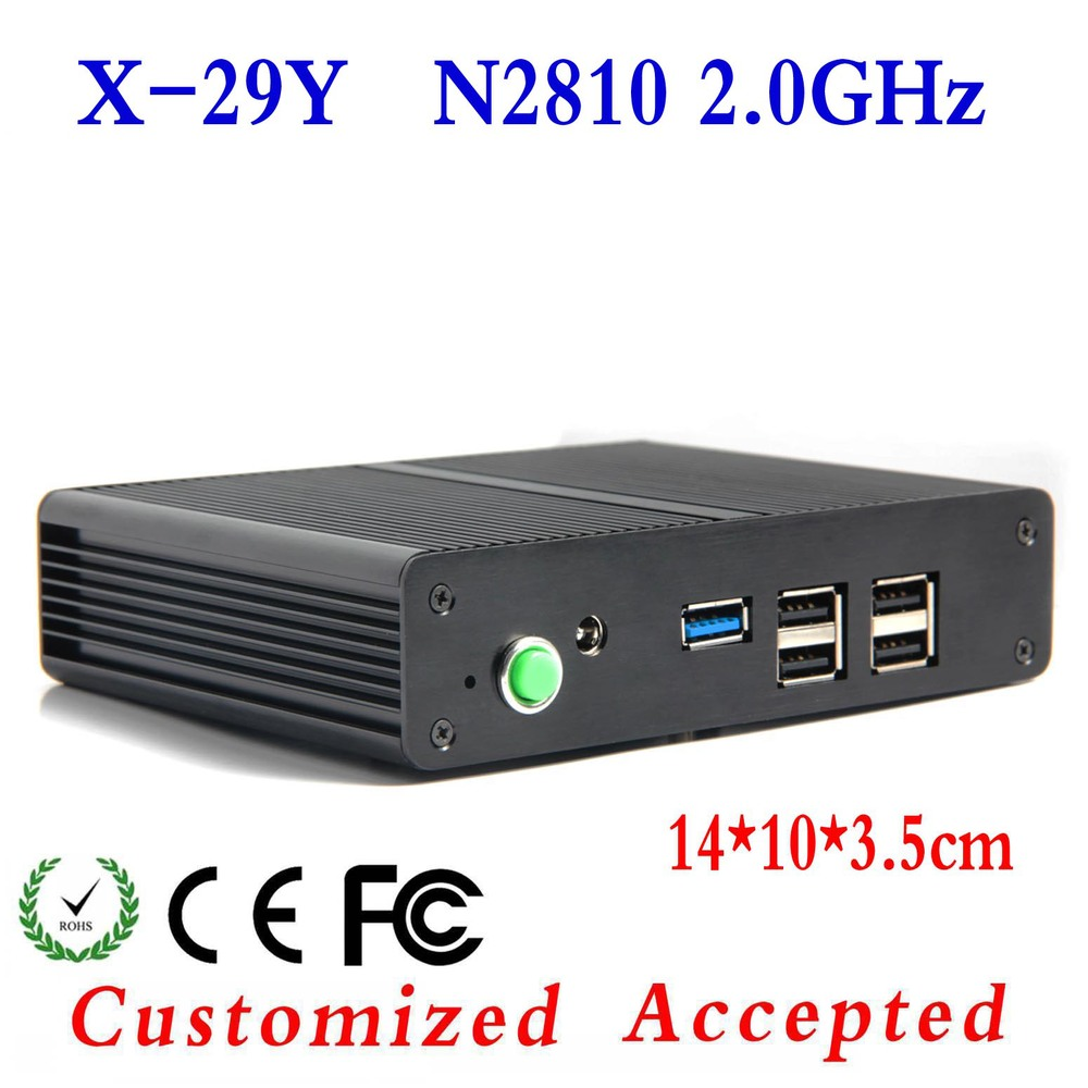 Support Video Games And Movice Host Pc Minipc Computer Terminals X-29y N2810 2.0GHZ 1.8GHZ With 1RJ-45 LAN Port Barebone OS(China (Mainland))