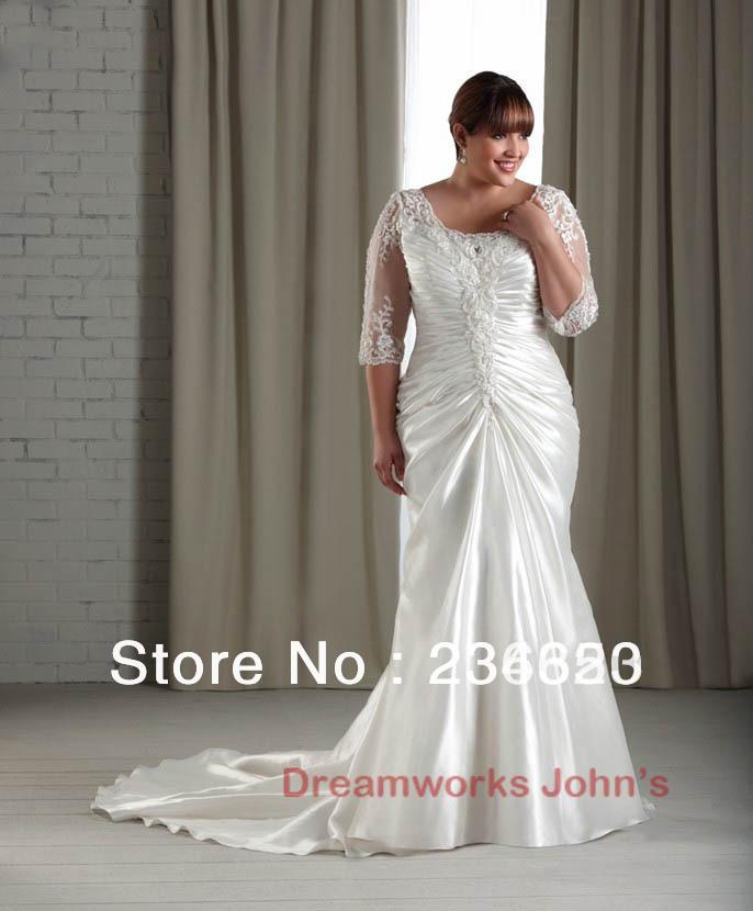Plus size mermaid appliques taffeta corset wedding dress for Corset wedding dresses plus size