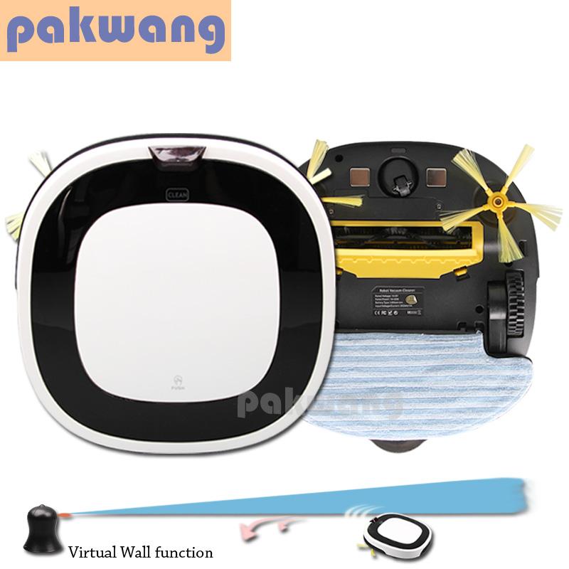 D5501 Robot Vacuum Cleaner Auto Recharge Washing Machine with 2 Power Suction Nozzle, Wet Vacuum Cleaner,aspirador De Po Robot(China (Mainland))