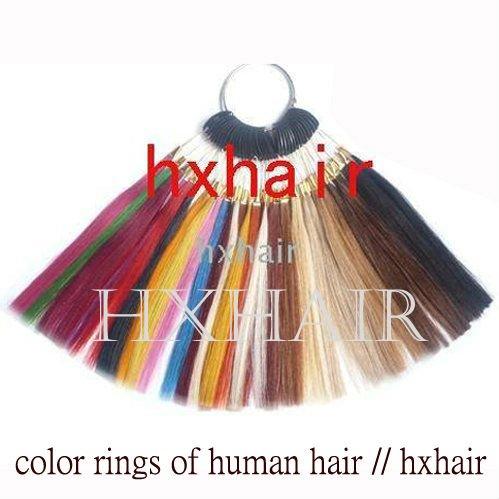 Freeshipping - 36 Colors Color Rings / 36 Colors Color Chart / 100% Human Hair / Hair Extension tools(China (Mainland))