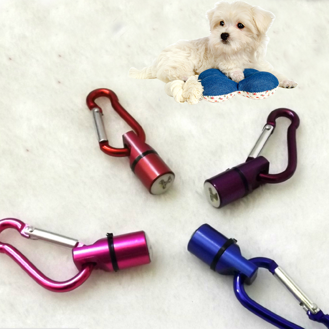 Great 1Pcs Cute Keychain Style Safety Flashing LED Signal lamp Pet Dog Collar Pendant Charms Pets Products(China (Mainland))
