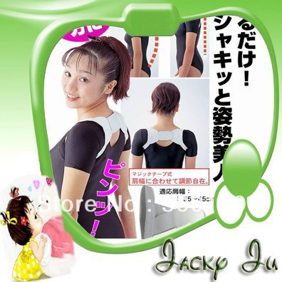 Free Shipping Hot Sales New White Color Back Correct Support Band Scoliosis Straight Belt Posture Corrector Jacky Ju
