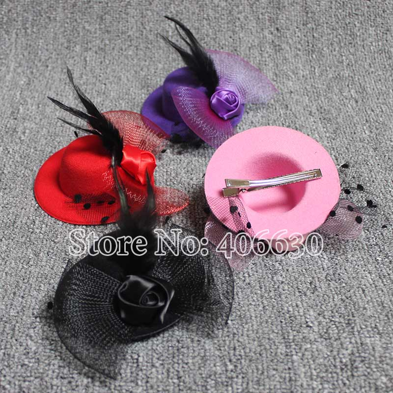 new mini top tat, hairclip fascinator, party small gift hat, 6 Colors, 12pcs/lot, free shipping by China postОдежда и ак�е��уары<br><br><br>Aliexpress