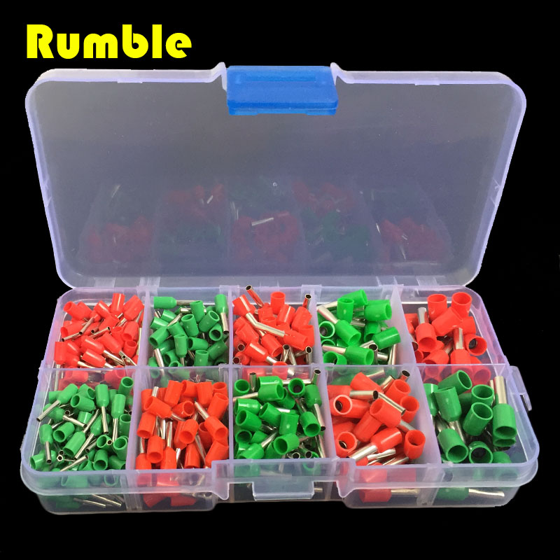 480 pcs 5 Model Copper Crimp Connector Insulated Cord Pin End Terminal Ferrules Repair Tool Kit Set Wire Tube Type Terminals(China (Mainland))