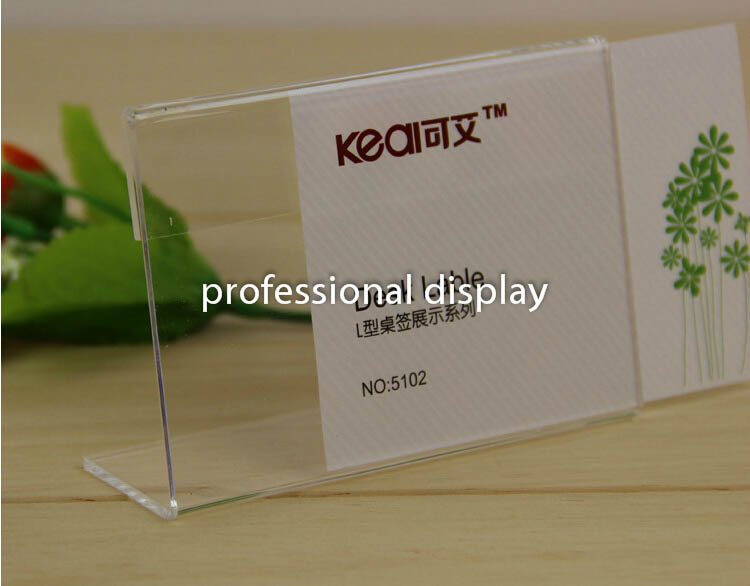 Buy 10 8 clear acrylic sign holder price for Tag table html