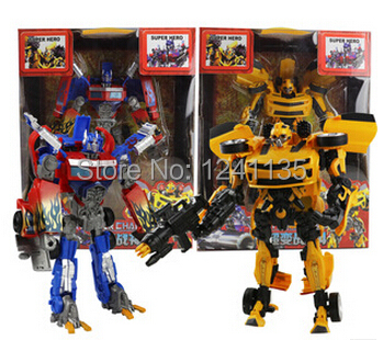 Genuine 27cm Bumblebee Transformation Toys Optimus Prime Robots Model Movie 4 Diamond Classic Toys Action Figures Robot Car(China (Mainland))