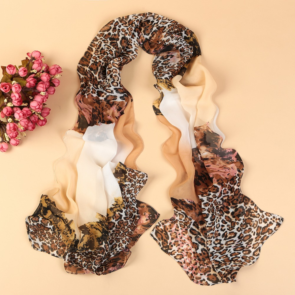 women's scarf leopard scarf print long shawl cape silk chiffon tippet muffler 2014 new design pashmina Scarves YN-098(China (Mainland))