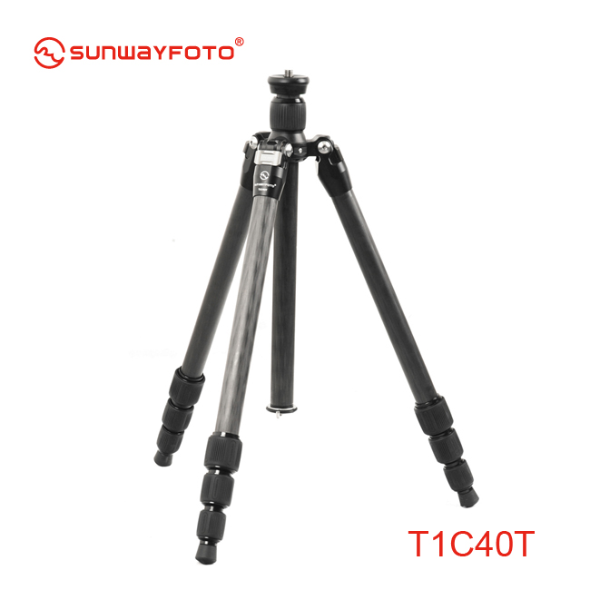 SUNWAYFOTO T1C40T Carbon Fiber professional camera tripod for dslr Super Light Weight Traveller Tripode(China (Mainland))