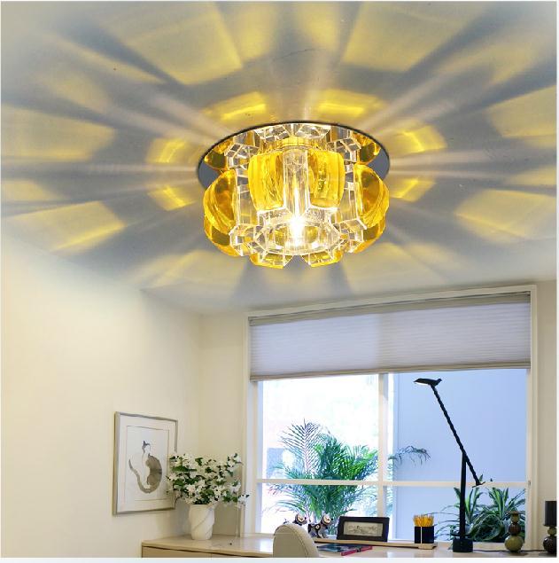 3w Led pumpkin crystal balcony ceiling lights recessed lighting entrance lights<br><br>Aliexpress