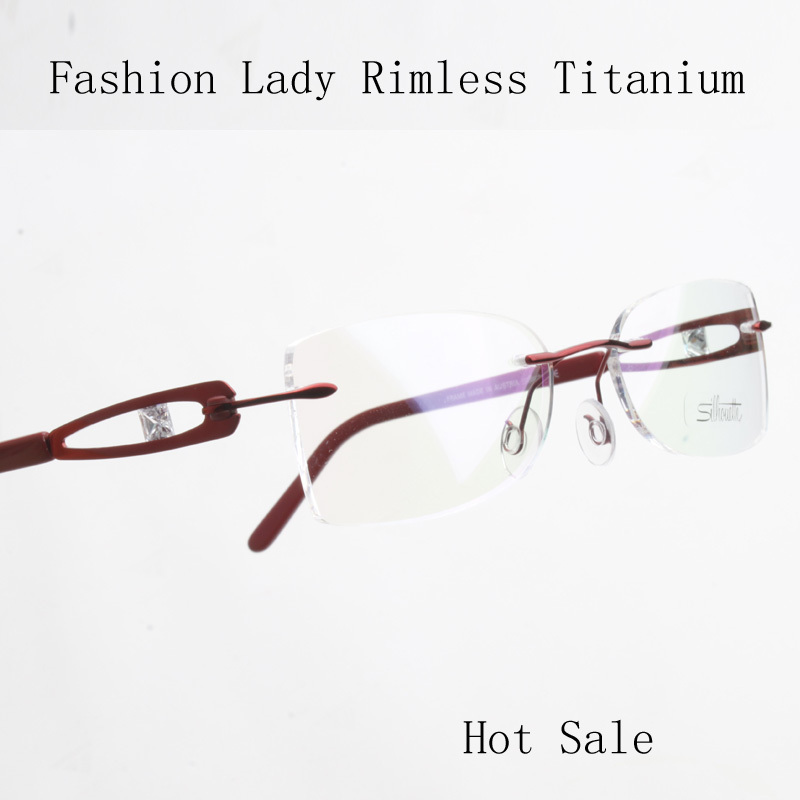 Rimless Glasses At Vision Express : High Quality ultra light titanium rack rimless eyeglasses ...