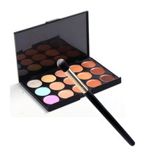 1PCS Women Lady Girl Powder Blush brush Facial Makeup Cosmetic Beauty Soft Brush Tool+15 Color Professional Camouflage Concealer