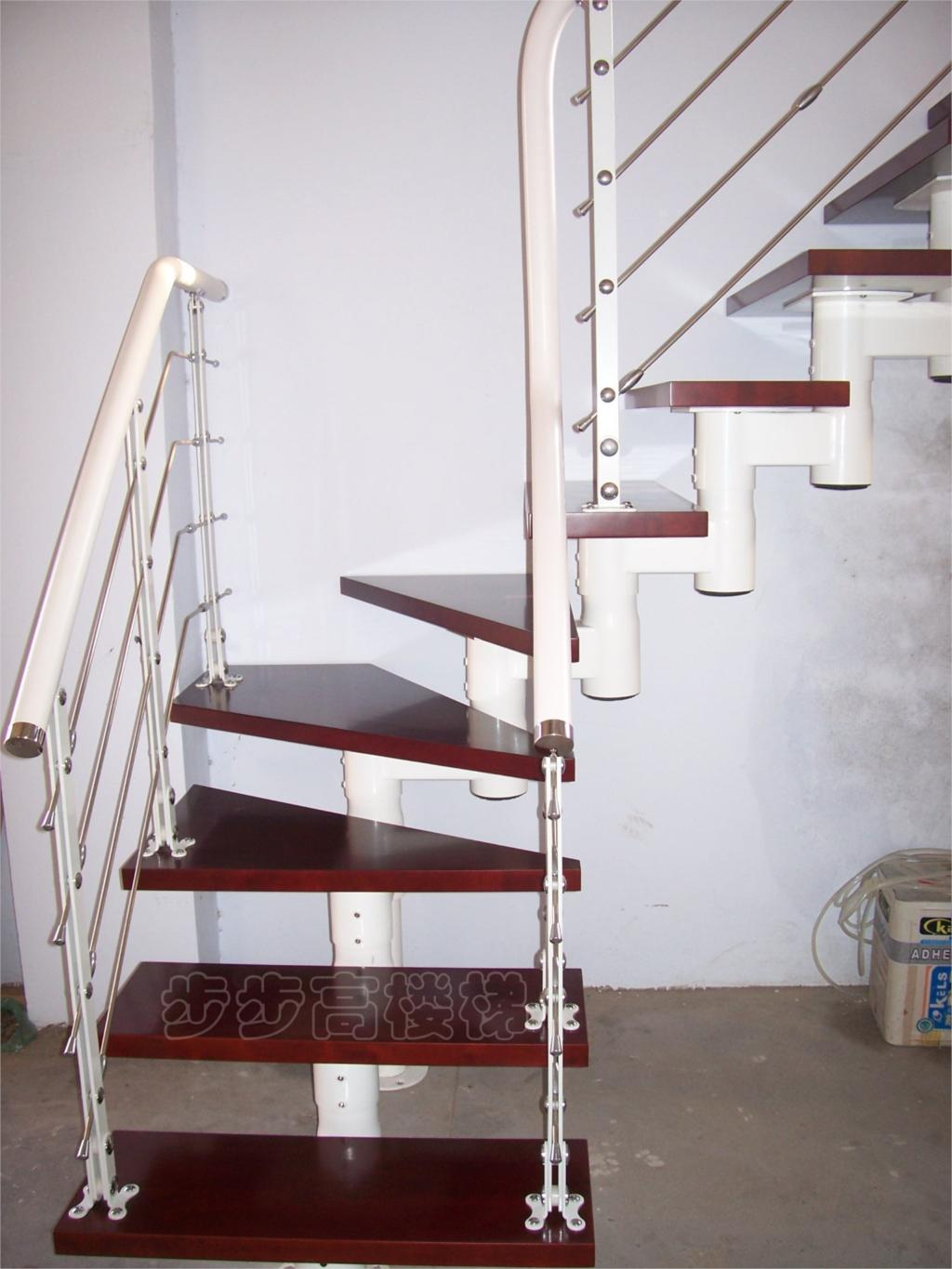 Shanghai factory direct l shaped steel custom wooden staircase wooden staircase attic stair - Attic houses with exterior stairs ...