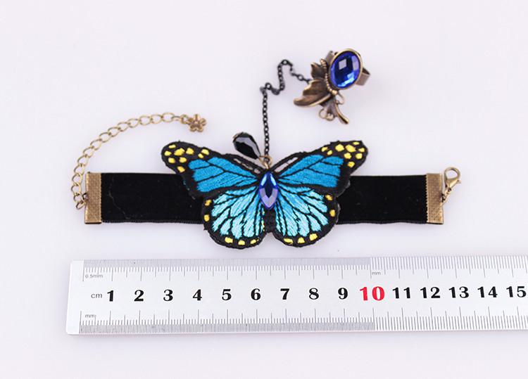 2015 новый дизайн моды бренд Бижутерия готическая бабочка браслеты & браслеты для женщин старинные бронзовые невесты запястья Кружева Браслеты набора