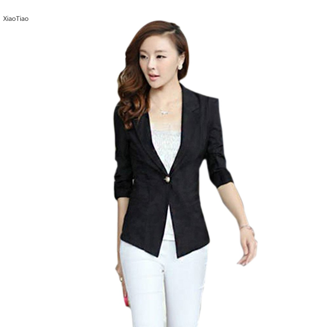 Download image 3 4 Sleeve Suit Jacket For Women PC, Android, iPhone